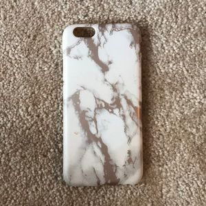 iphone 6 silicone rose gold marble phone case